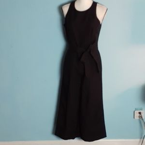 Whbm jumper black wide legs fitted pleated nwt 6